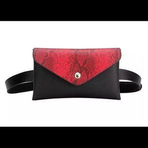 Handbags - ❤️RED&🖤BLACK Snake🐍Pattern WAIST/SHOULDER PURSE
